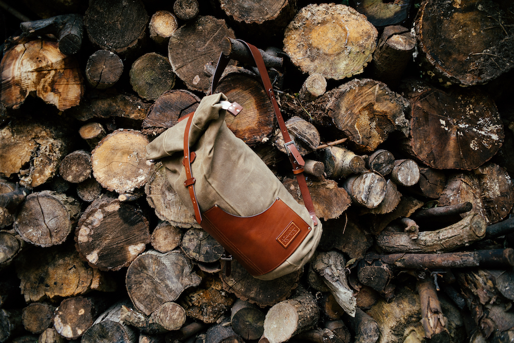 Nomadic People - Zuberi Rolltop Rucksack - Chestnut on Field Tan - Copenhagen Woods - Leather Bag
