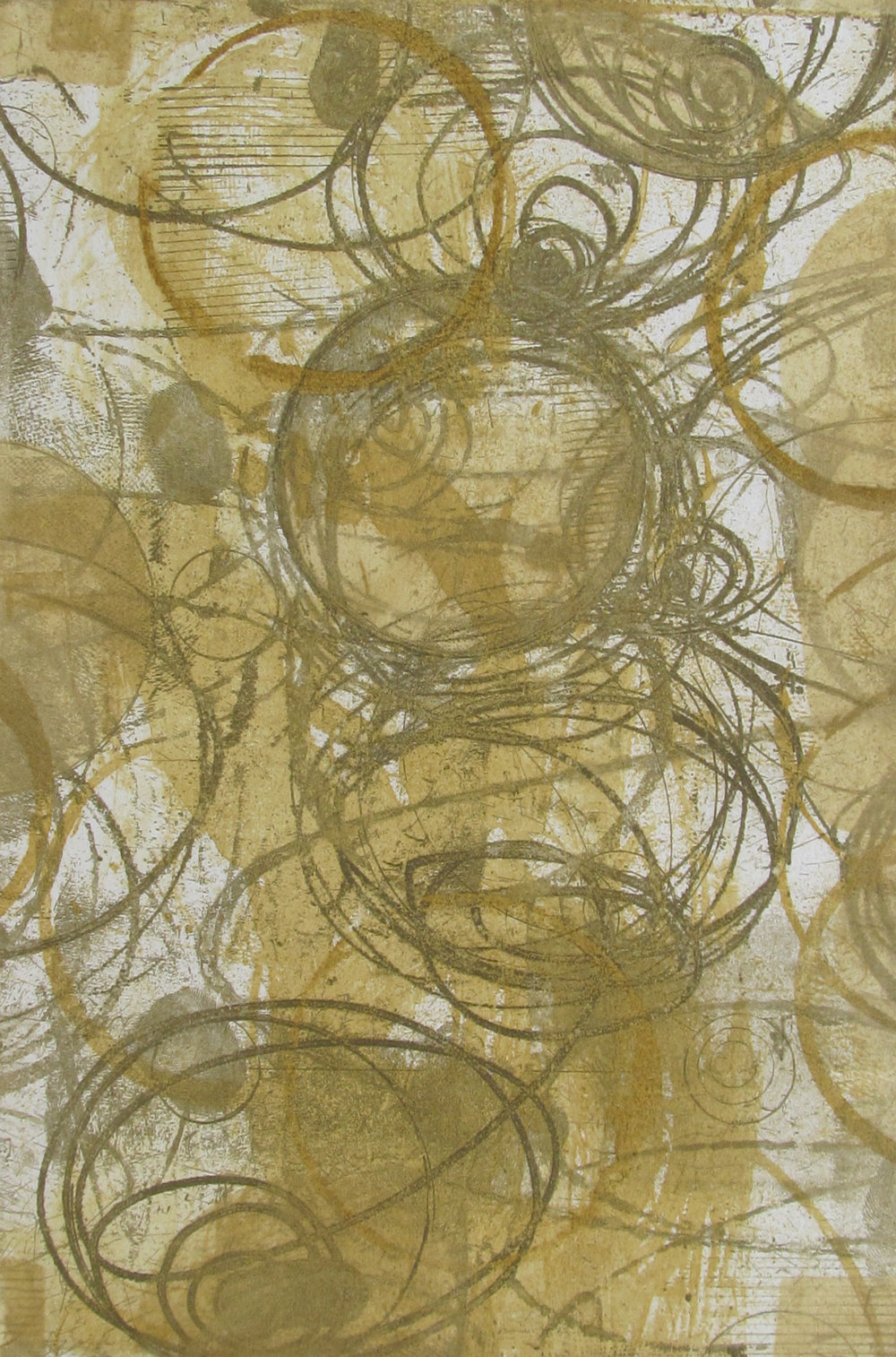 """Solar Series I Litho Etching 20"""" x 12"""" plate 30"""" x 22.5"""" paper"""