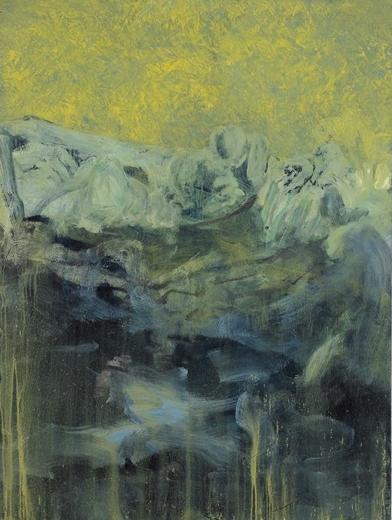 """Untitled  #1943:2017. Oil on wood, 40"""" x 36"""""""