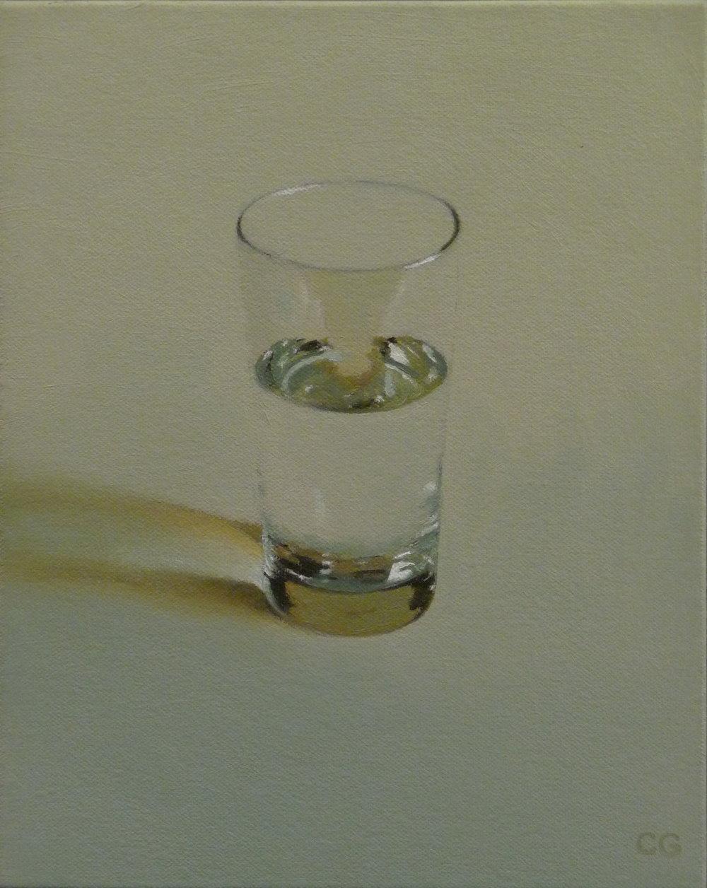 "Half  Oil on canvas  10"" X 8"""