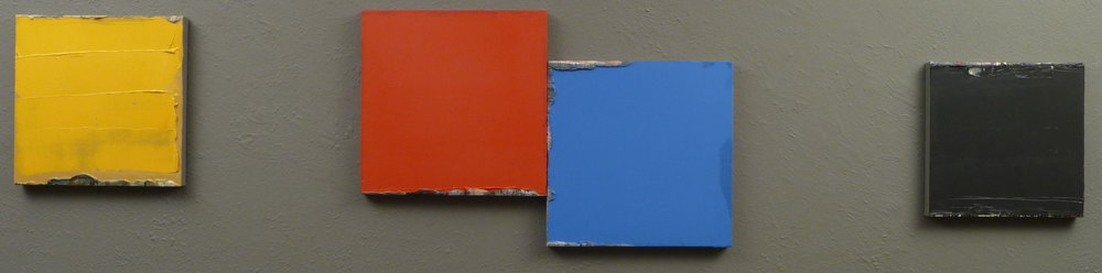 """Quartet / 4 canvases   Oil on canvas 16"""" x 72"""" installation"""