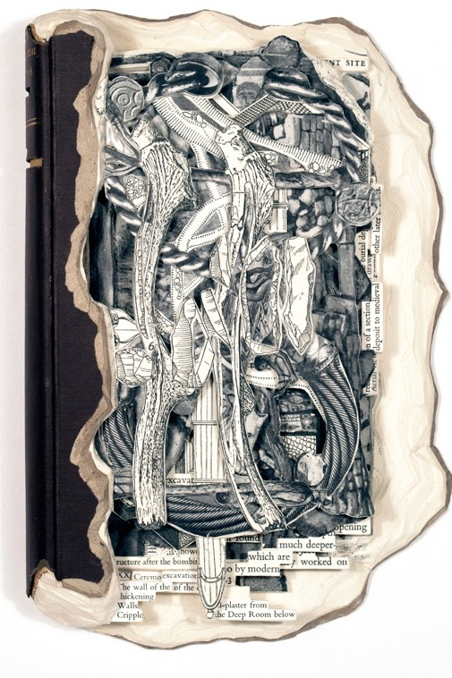 """Excavation  Hardcover book, acrylic and varnish  9.25"""" x 6.4"""" x 1.5"""""""