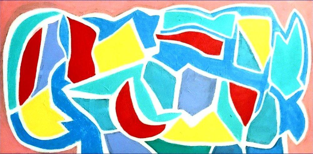Pastel Dream.  12x 24 in, acrylic