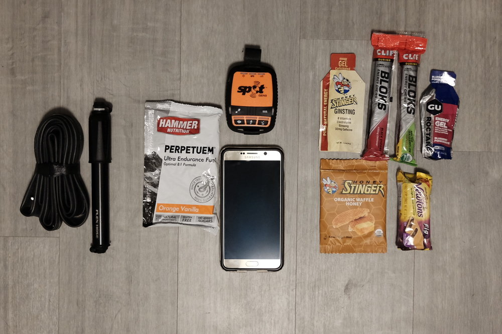 Jersey pocket contents