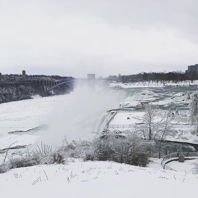 The Niagara Falls Ver. Winter #niagarafalls #winter #snowday
