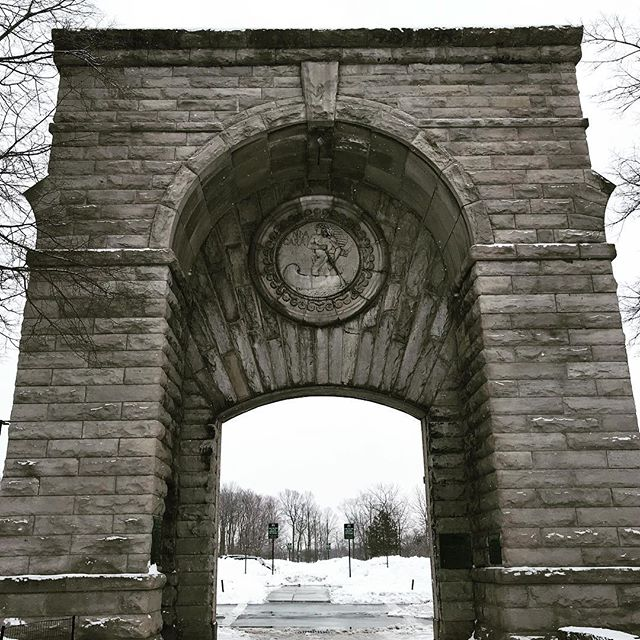 The Niagara Power Station Gate #niagarafalls #winterwonderland #tesla