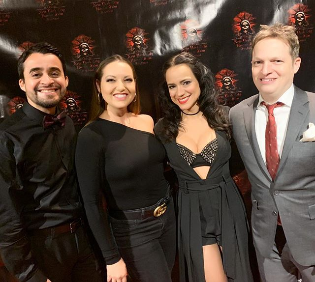 The producing team of @dontlookthemovie wants to thank you all for coming out and celebrating with us last night @nychorrorfilmfest ! You made it so special!! 👯‍♀️⚰️🗡💉🔪