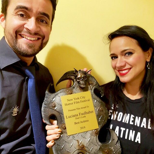 🏆 Alert! Congrats to our very own @lucianafaulhaberofficial for winning the #bestactress award @nychorrorfilmfest! We could not be more proud! #circuitfestival #awardwinning #horrormovies #indiefilm #actorsacting #proud #screamqueens