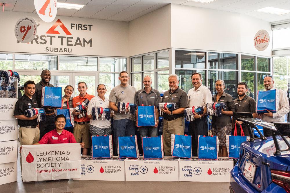 First Team Subaru Suffolk and Khiem Tran, LLS Campaign Manager