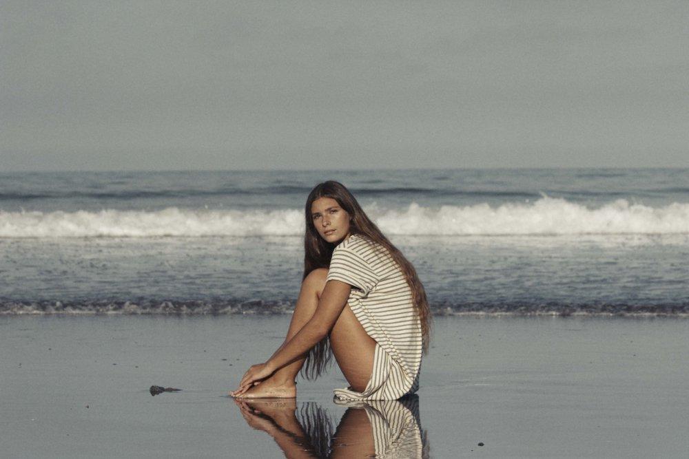 Jungmaven Hemp/Organic Cotton Stripe Beach Dress.