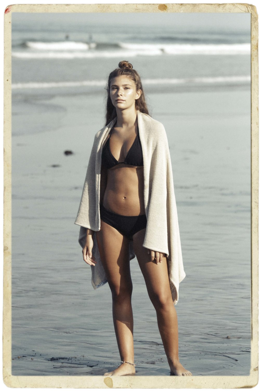 Indie Attire Hemp Bikini.       Bee Line Hemp Beach Towel.
