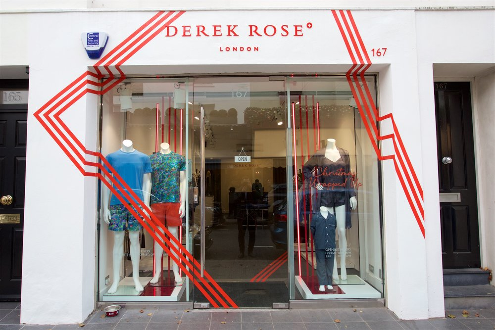 Shopping for essentials at  Derek Rose