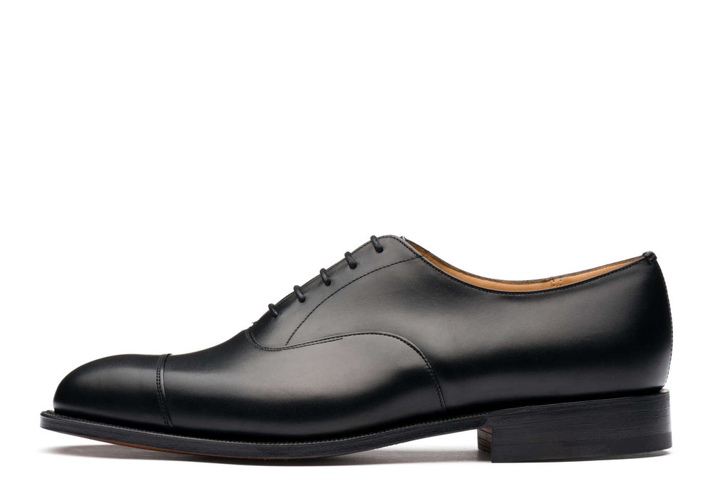 Church's black leather shoes - £590