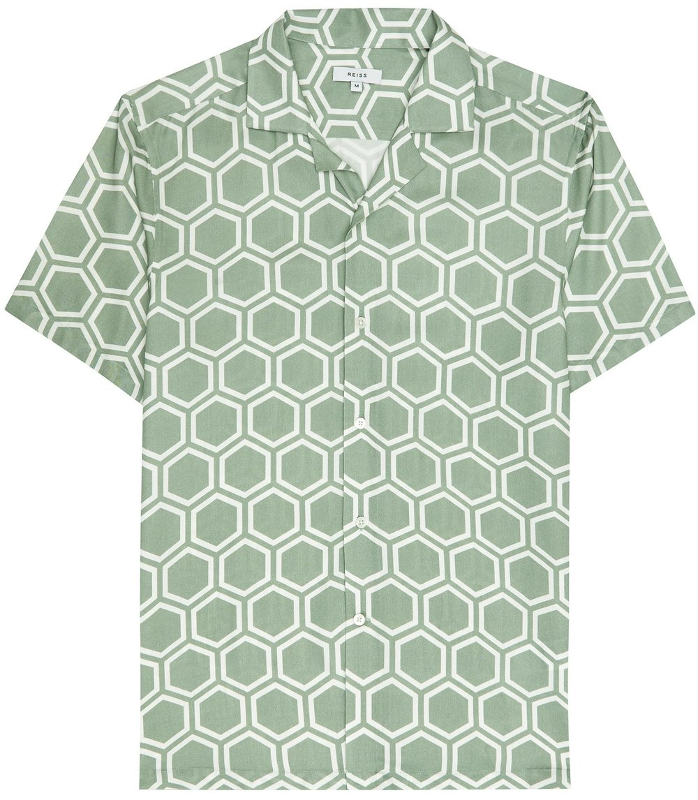 Green printed shirt - £85 at Reiss