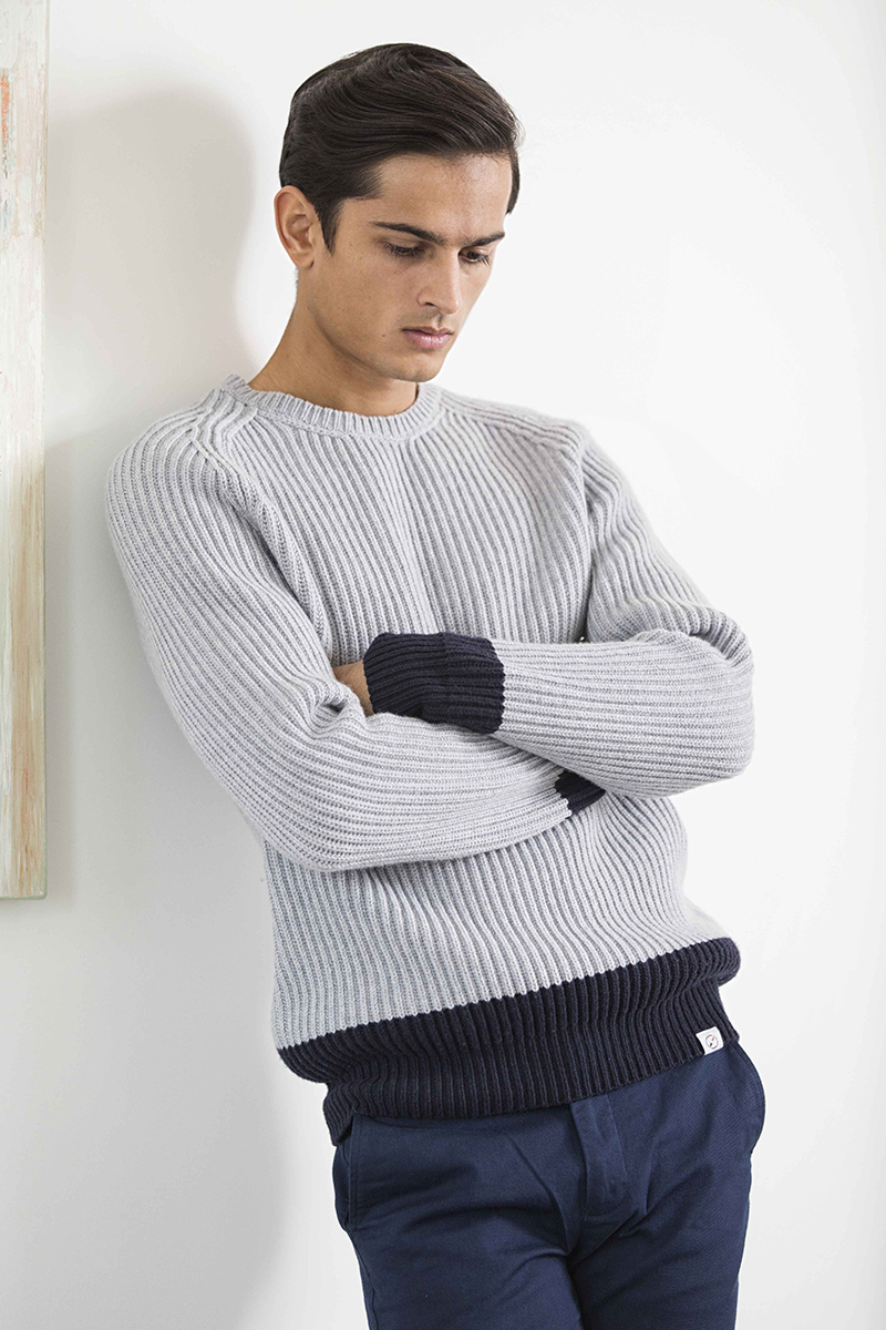 Knitwear –  Orlebar Brown , trousers -  Clements & Church