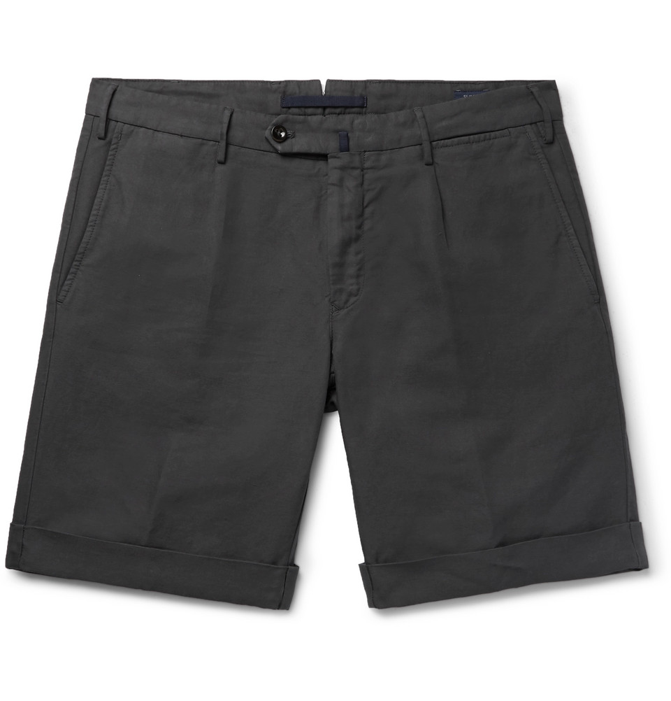 Incotex linen and cotton blend shorts - £205 - Available at Mr Porter, these would look great with a pair of ...