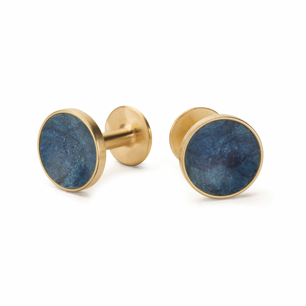 NEW Alice Made This Mens Patina Cufflinks in Prussian-Blue Bayley.jpg