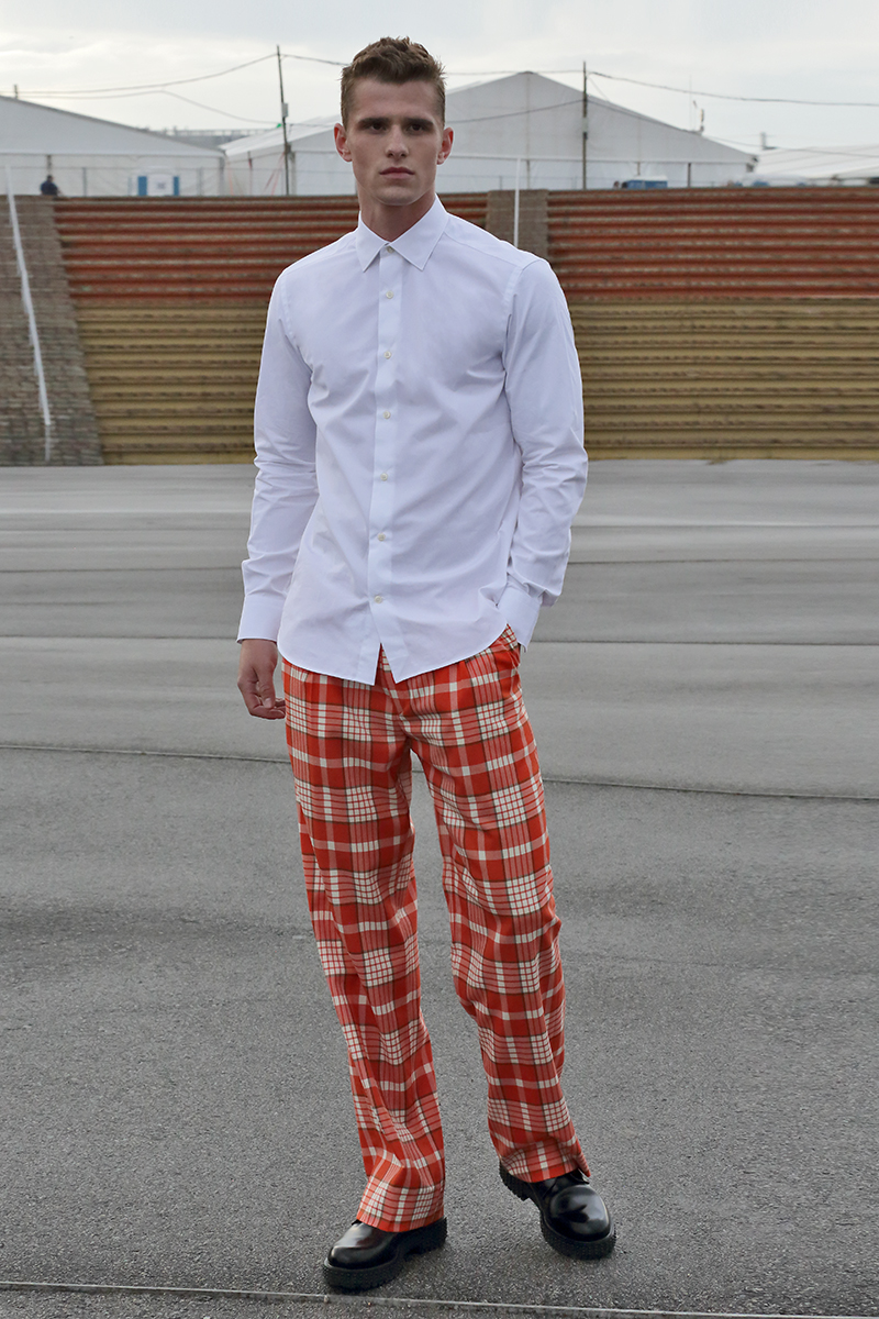 Shirt -  Prada , trousers -  Daniele Alessandrini , shoes -  Valentino