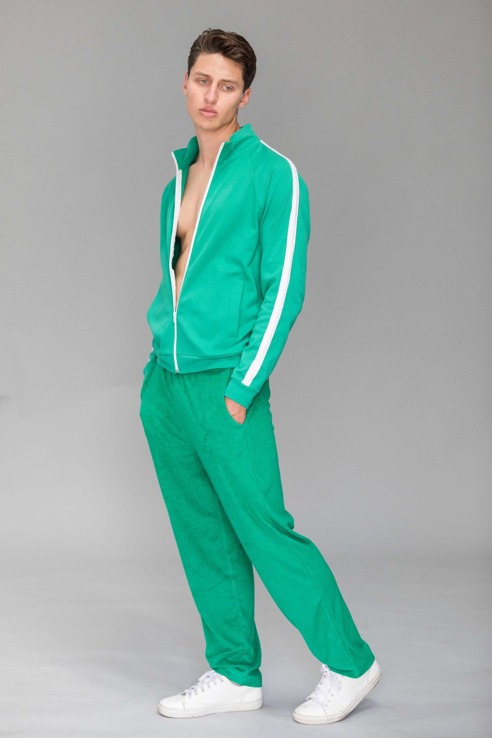 Joggers and zip up -  American Apparel , sneakers - models own