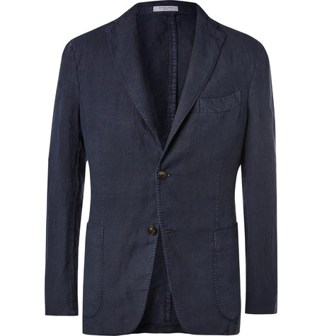 Boglioli navy unstructured linen suit jacket at Mr Porter - £595