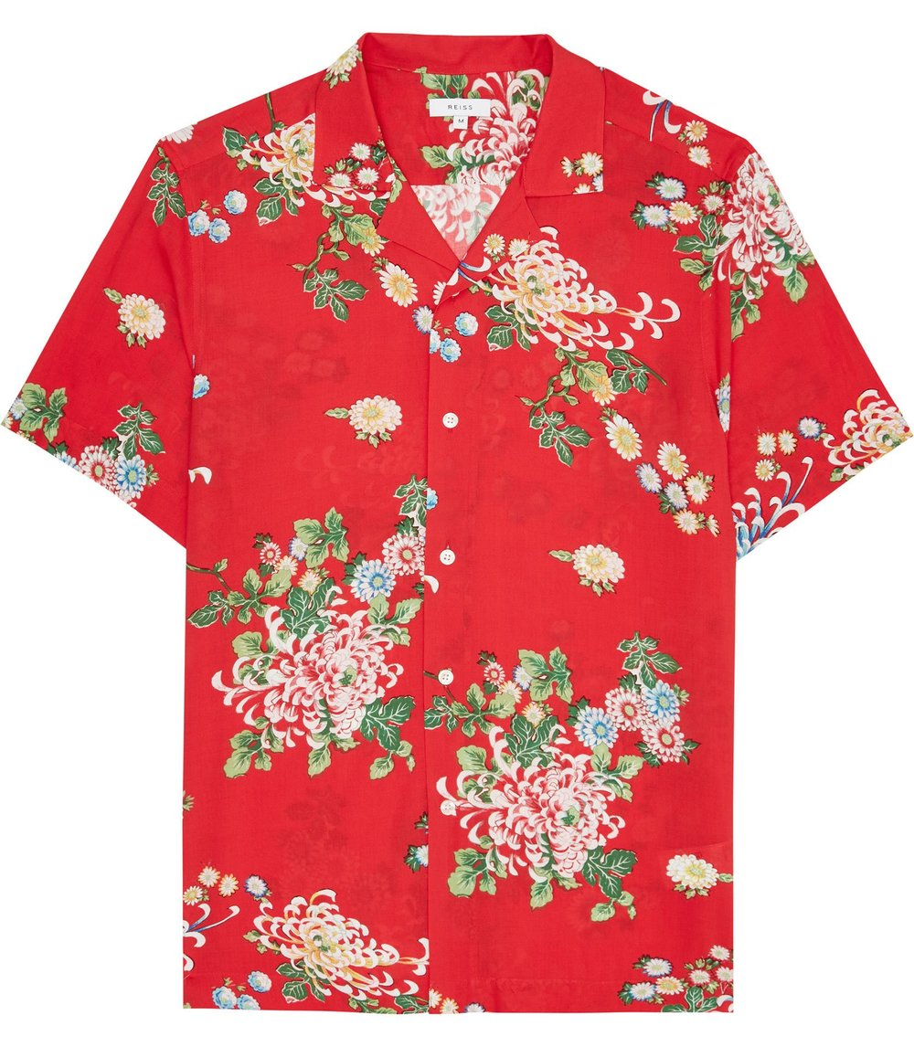 Reiss floral printed shirt - £50
