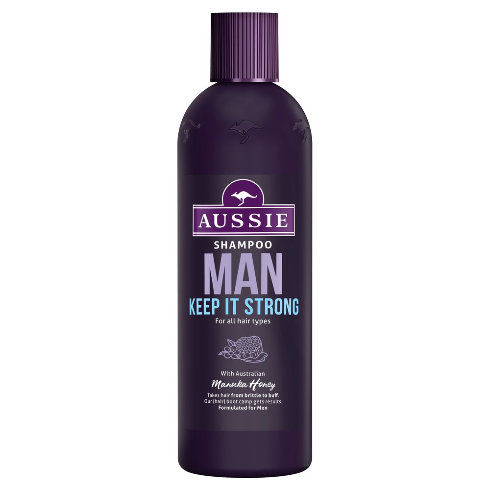 Aussie Man keep it strong shampoo - £3.99 - Takes hair from brittle to buff