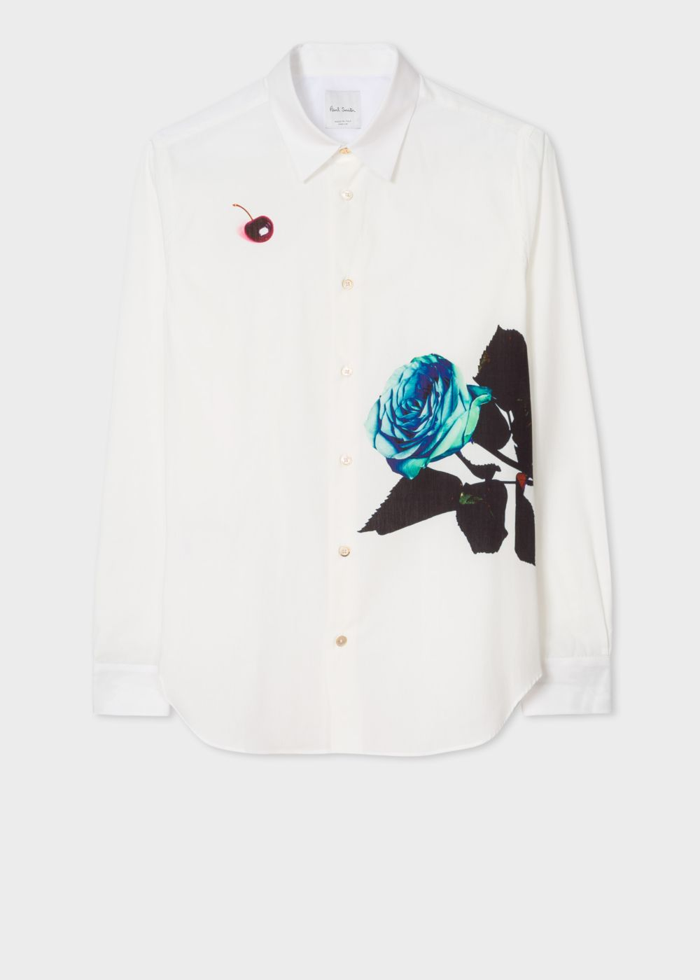 Paul Smith white rose print shirt - £275 - Obsessed.