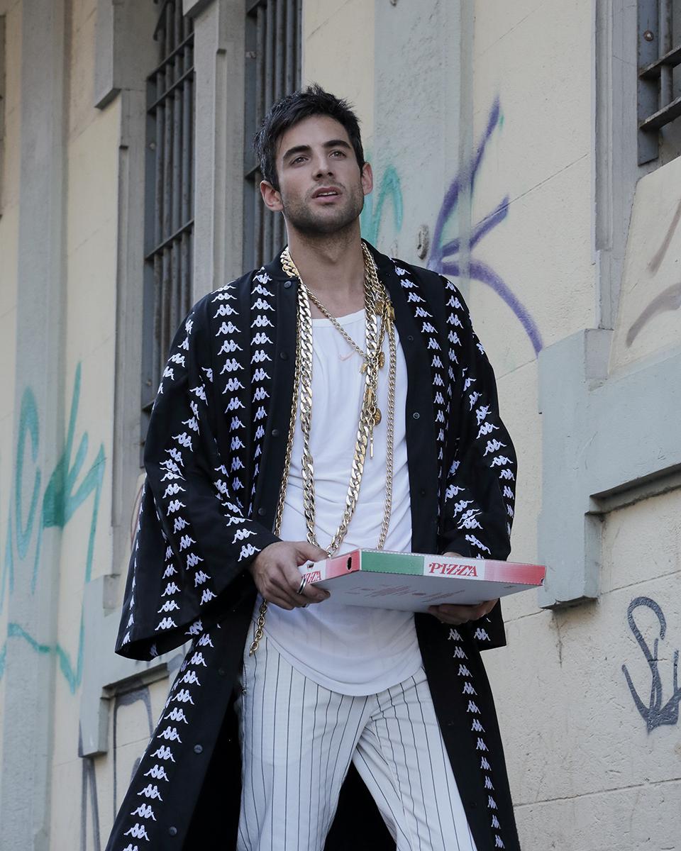 Kimono -  Kappa , Trousers -  Re Hash , Shirt -  Nike,  Necklaces -  Chanel