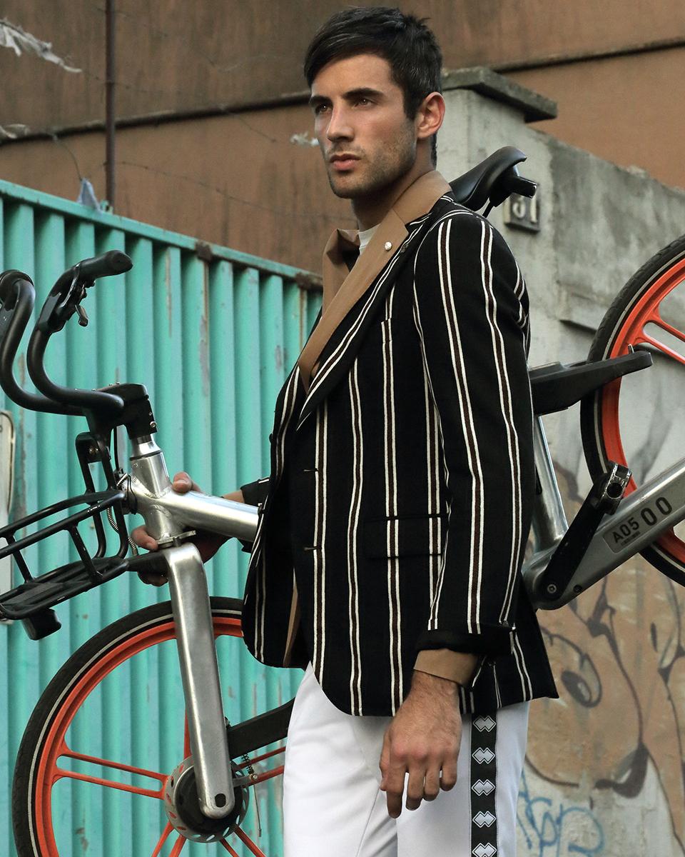 Trousers -  Errea , Striped blazer -  Tagliatore , Beige blazer -  Luigi Bianchi Mantova