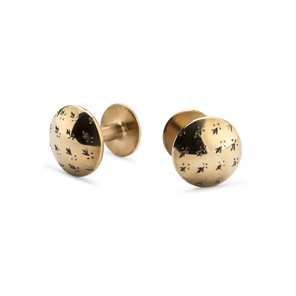 NEW Alice Made This 'Sketch Collection' James - Ermine Gold Cufflinks - £205.00.jpg