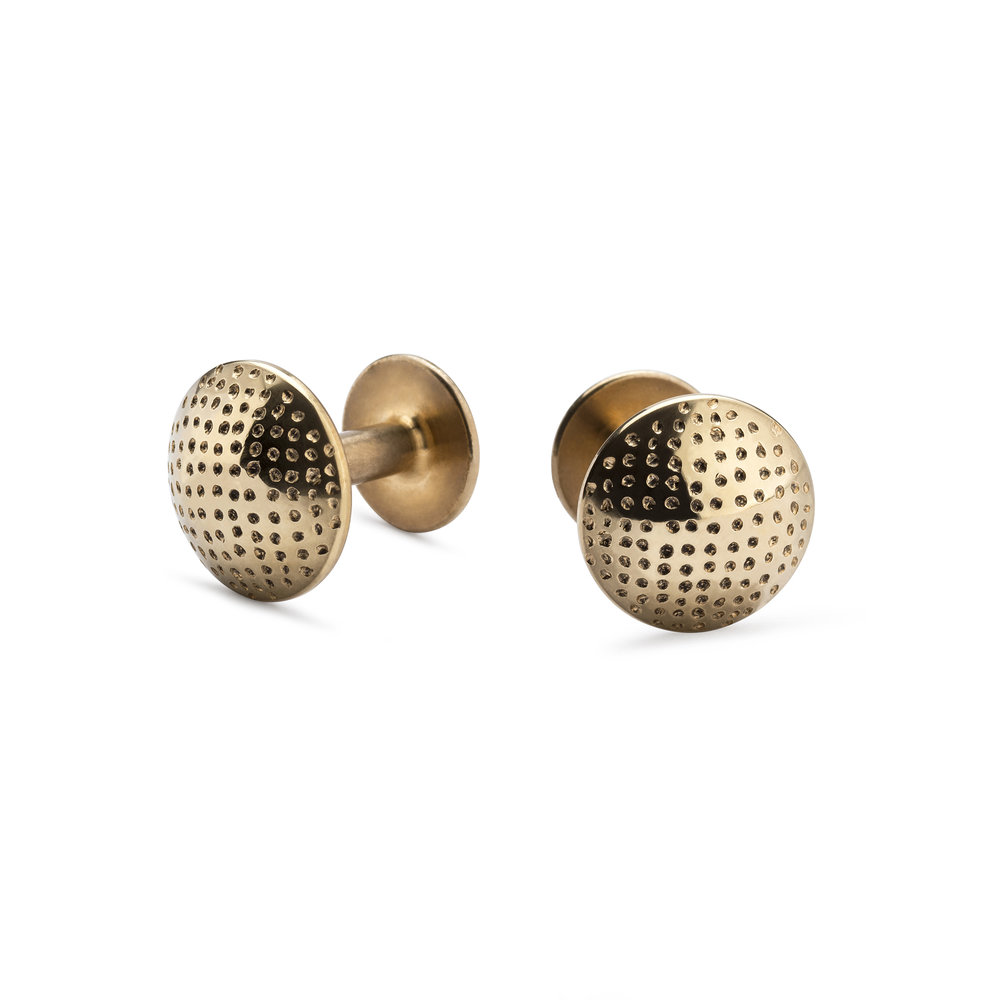 NEW Alice Made This 'Sketch Collection' James - Heraldic Dot Gold Cufflinks - £205.00.jpg