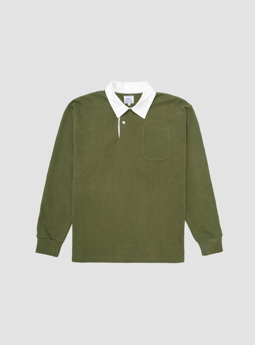 Drop Out Sports rugby shirt - £160 - Available at Couverture & The Garbstore, we are loving the khaki shade of this wear anything rugby shirt