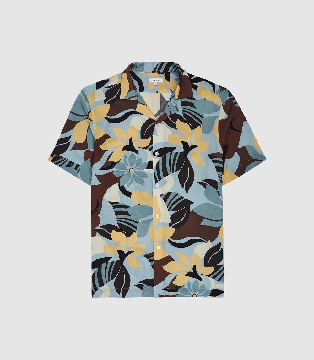 Reiss art deco floral print shirt - £85 - Start investing in your summer wardrobe with this great printed shirt, which we would style with slim, light chinos.