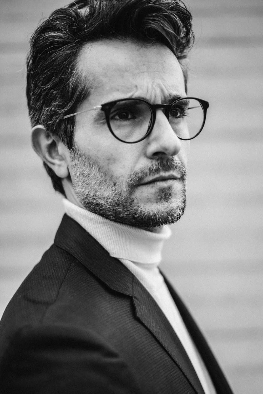 Knit -  Zara , Blazer -  Boss , Glasses -  Tom Ford