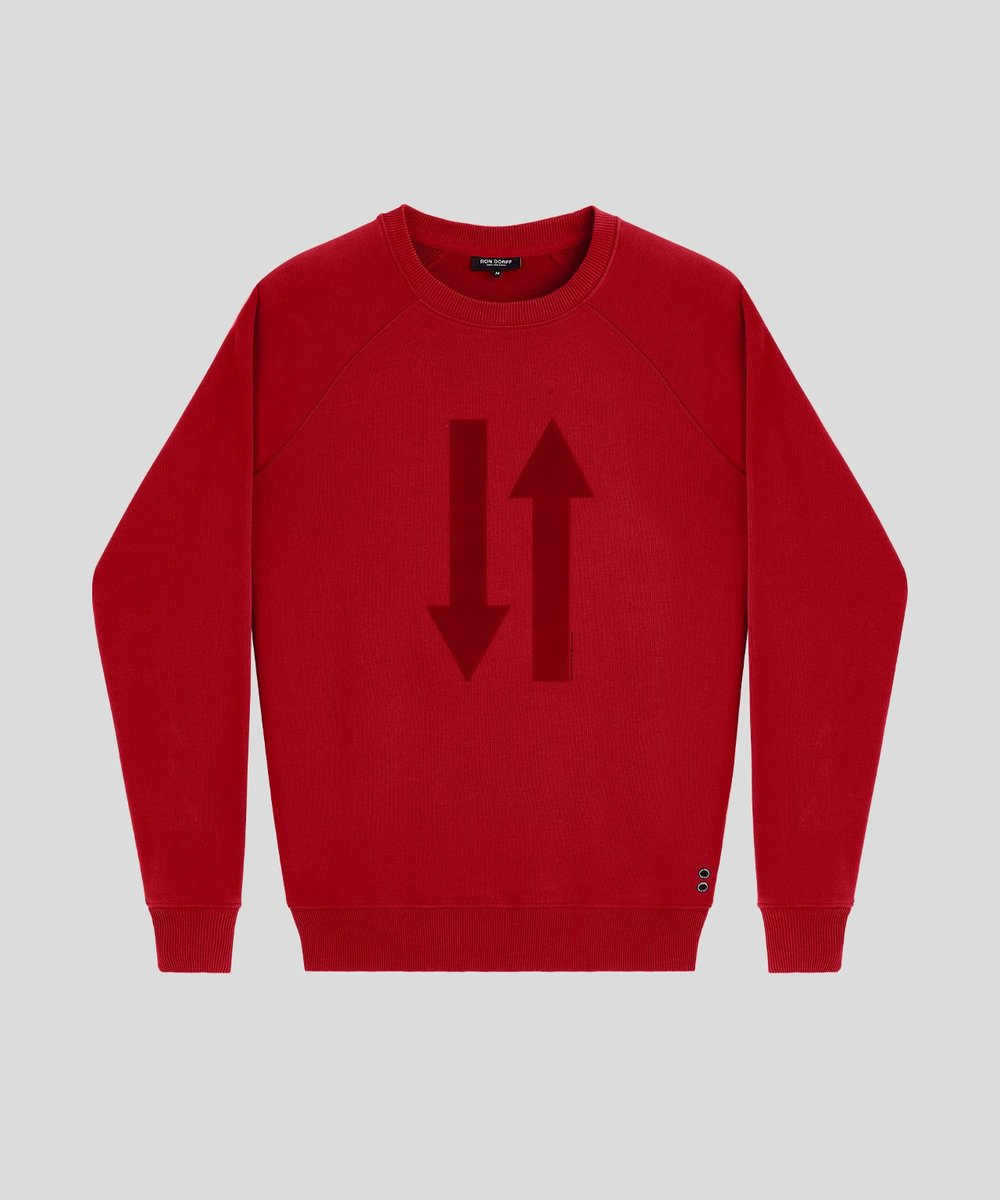 Ron Dorff sweatshirt - £125 - Fantastically bright red sweat to wear from the gym to the coffee shop