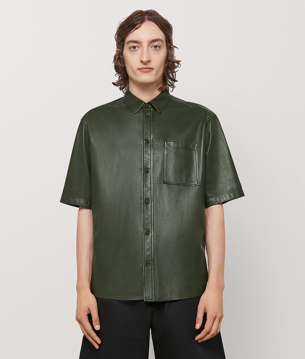 Bottega Veneta leather shirt - £2,005 - Leather shirts were a huge spring trend. Go hard and invest in slick nappa leather and a wearable boxy fit