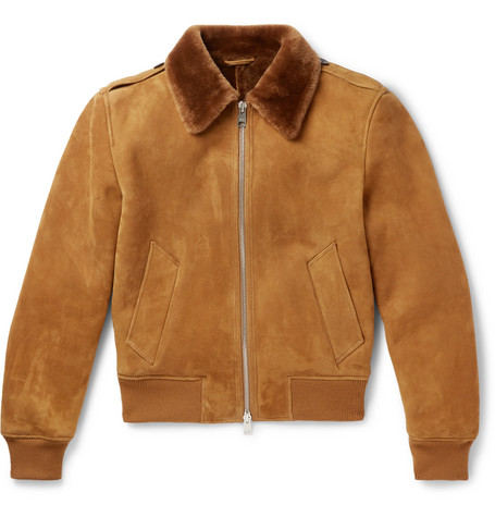 AMI shearling aviator jacket at Mr Porter - £1,600 - A classic piece you will wear for years and years. Love the shape, colour, cut and snuggly fit