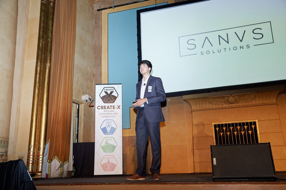 August 2018 - Graduated from the Create-X startup launch, Sanus Solutions is now working towards their first pilot product launch.