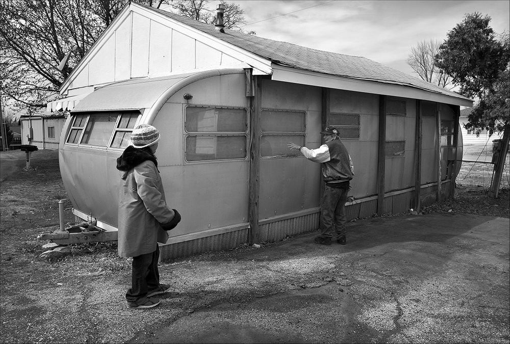 March 2017:  Trying to escape the high cost of monthly motel room rentals, Clarence and Vickie found a rental trailer they liked but someone else had already rented it. The couple said when they complained about bed bugs at the motel where they rented a room for $500 a month they were asked to leave at the end of the month. Clarence then rented a room at another motel for $750 a month. Clarence said he checked into public housing, and said he would pay only $191 a month at the Lincoln-Douglas Apartments but there is a long waiting list.