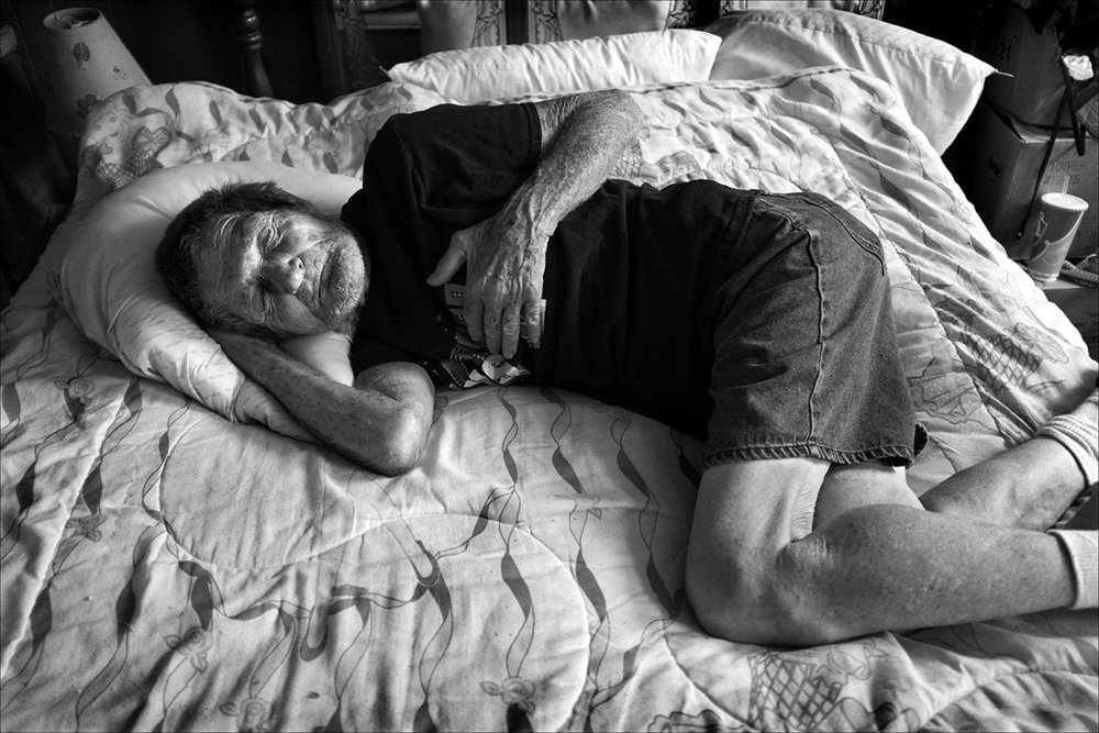 "July 2017:  Minutes after learning that Vickie had died, Clarence retreats to his bedroom. ""My heart stopped,"" Clarence said. In the following weeks and months, Clarence slips into a depression leading to four hospitalizations in four months for dehydration. Clarence has spent every night walking about trying to find her only to end in tears. Unable to sleep, he barely eats. When he finally learned that Vicki has died, he responded that he did not want to live anymore. Clarence and Vickie were very close. Where you saw one, you saw the other."
