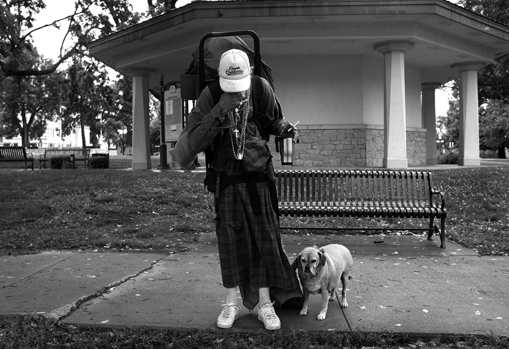 May 2017:  After sleeping on the bare sidewalk under the Washington Theater marque the night before, Walter wakes up to his 74th birthday, uses the restroom in Washington Park, and sets out to seek assistance from any social services organization that can help.
