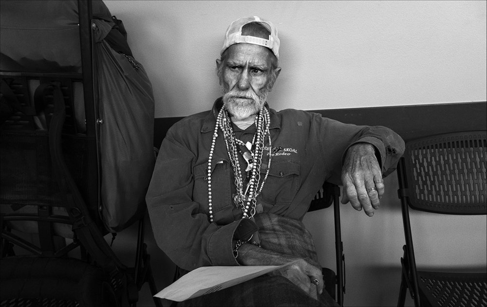 May 2017:  After five nights of sleeping in the cold on concrete sidewalks, Walter is feeling exhausted as he waits at the Horizons Soup Kitchen for lunch to begin.