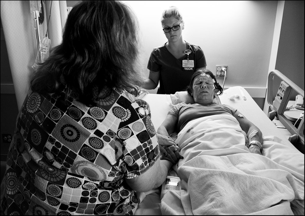 """June 2017:  Vickie is being cared for at Blessing Hospital in Quincy, Illinois, after suffering a heat related injury. A few weeks later, Vickie died of complications from a heart attack she suffered in a nursing home. She was survived by a fiancee and friends who, because of """"standard patient privacy issues,"""" were denied any knowledge of her whereabouts when she was transferred from Blessing Hospital to the nursing home where she suffered the heart attack. When her fiancee learned of Vickie's death on social media, he fell into a deep depression, was hospitalized 4 times in as many months and required a nursing home stay of months to recover. He literally nearly died of a broken heart."""