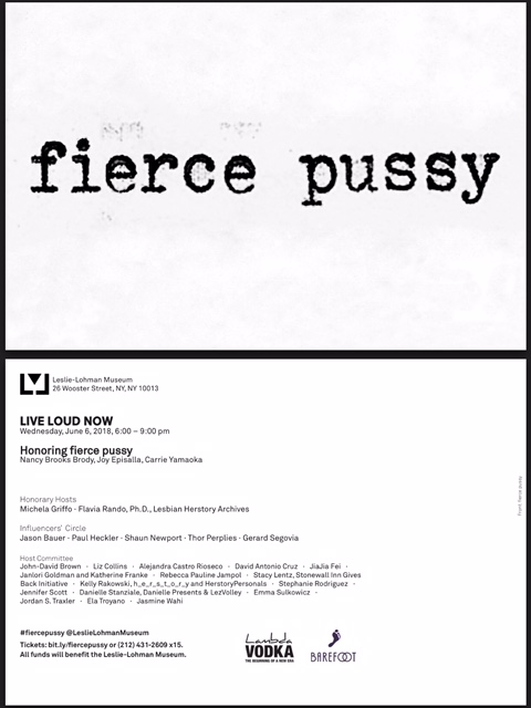 LIVE LOUD NOW - HONORING FIERCE PUSSY