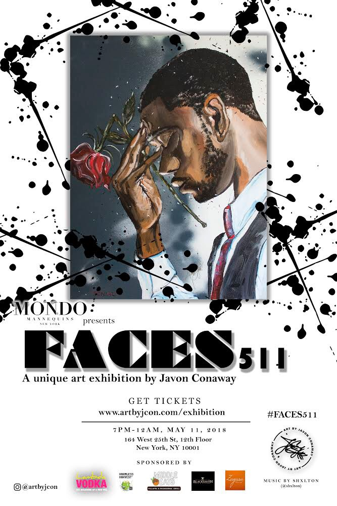 FACES 511 - A UNIQUE ART EXHIBITION BY JAVON CONAWAY