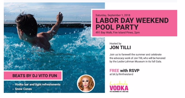 leslie-lohman museum present… - Labor day weekend pool party