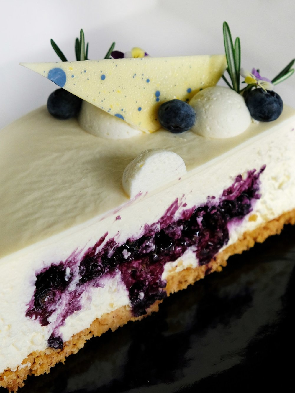 Blueberry & Camembert Cheesecake
