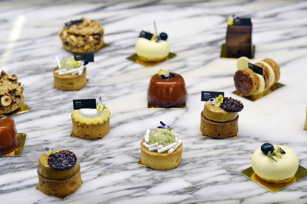 We're excited to unveil our range of miniature dessert canapés, which we have playfully named  Dewdrops . These petite treats are perfect for any occasion, be it a casual brunch, an intimate cocktail party or a fabulous wedding.    Pre-order now