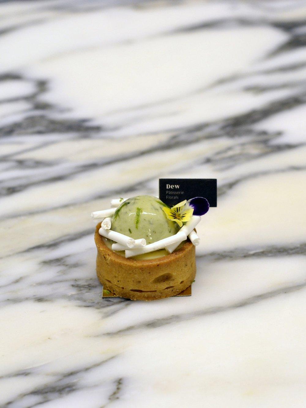 Mini Lime & Basil Tart