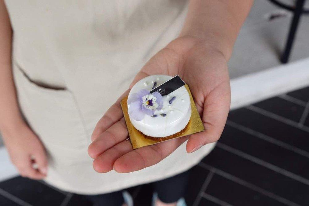 Mini Lavender & Lemon Curd Mousse